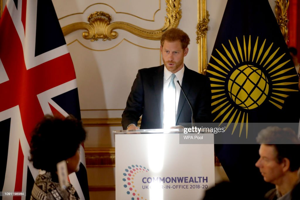 The Duke Of Sussex Attends Commonwealth Youth Roundtable : News Photo