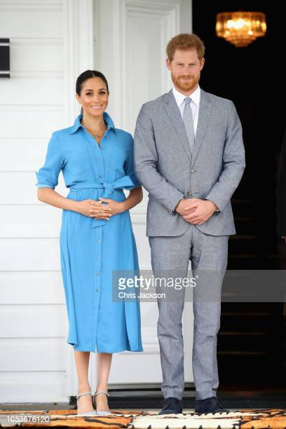 Prince Harry Duke of Sussex making a speech at the Unveiling of The Queen's Commonwealth Canopy at Tupou College on October 26 2018 in Nuku'alofa...