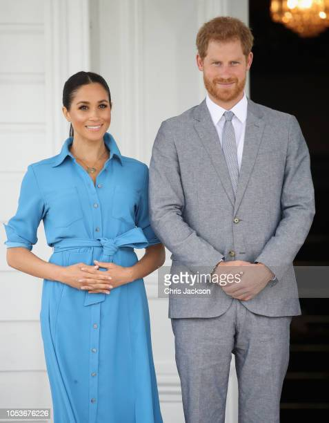 Prince Harry, Duke of Sussex making a speech at the Unveiling of The Queen's Commonwealth Canopy at Tupou College on October 26, 2018 in Nuku'alofa,...