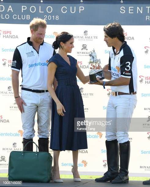 Prince Harry Duke of Sussex Meghan Duchess of Sussex and Nacho Figuares attend the Sentebale ISPS Handa Polo Cup at the Royal County of Berkshire...