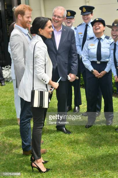Prince Harry Duke of Sussex Meghan Duchess of Sussex and Prime Minister of Australia Scott Morrison attend a Reception hosted by the Prime Minister...