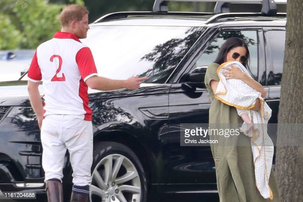 Prince Harry Duke of Sussex Meghan Duchess of Sussex and Prince Archie Harrison MountbattenWindsor attend The King Power Royal Charity Polo Day at...