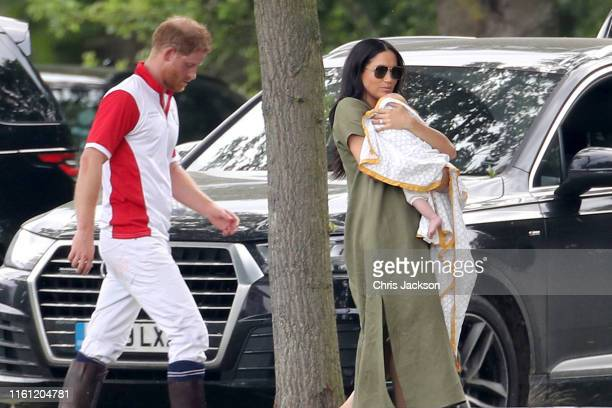 Prince Harry, Duke of Sussex, Meghan, Duchess of Sussex and Prince Archie Harrison Mountbatten-Windsor attend The King Power Royal Charity Polo Day...