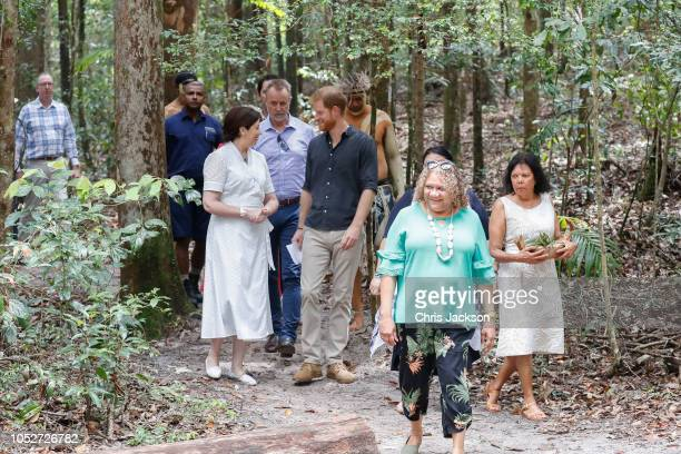 Prince Harry Duke of Sussex neing shown around the Queens Commonwealth Canopy on October 22 2018 in Fraser Island Australia The Duke and Duchess of...
