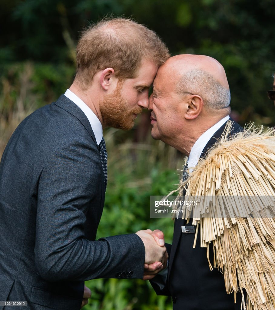 Prince Harry, Duke Of Sussex Performs A Hongi At A