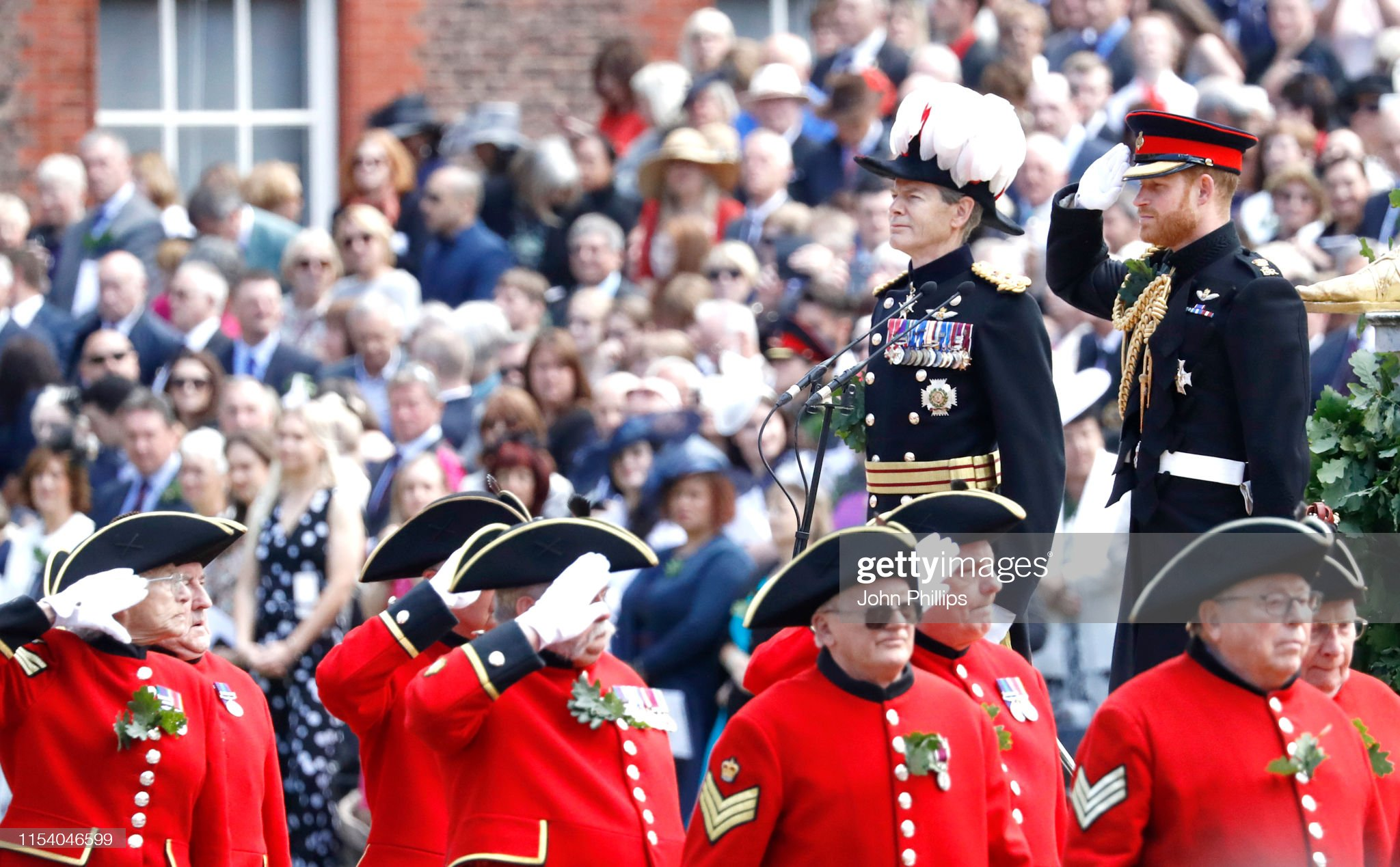 prince-harry-duke-of-sussex-salutes-the-veterans-and-chelsea-as-he-picture-id1154046599