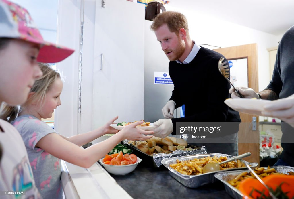 The Duke Of Sussex Visit The 'Fit And Fed' Half-Term Initiative : News Photo