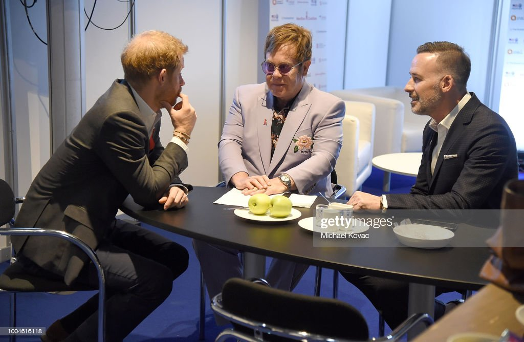 Elton John And The Duke Of Sussex Launch The Menstar Coalition To Promote HIV Testing & Treatment : News Photo