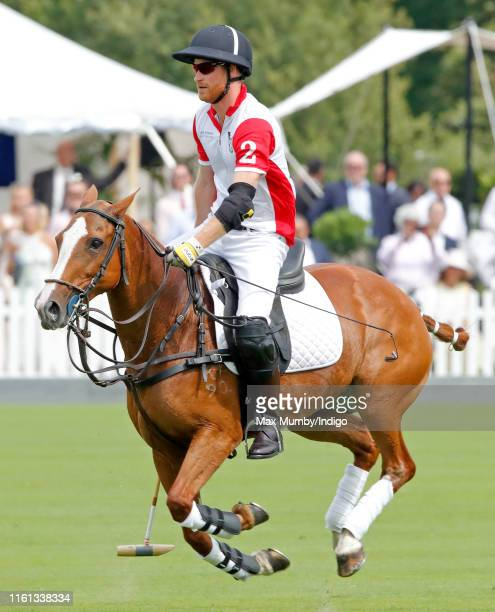 Prince Harry, Duke of Sussex takes part in the King Power Royal Charity Polo Match for the Khun Vichai Srivaddhanaprabha Memorial Polo Trophy at...