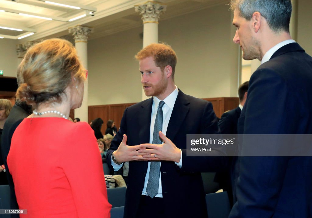The Duke Of Sussex Attends Veteran's Mental Health Conference : News Photo