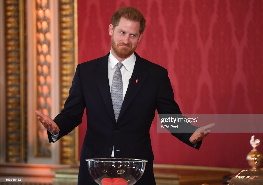 The Duke Of Sussex Hosts The Rugby League World Cup 2021 Draws : News Photo