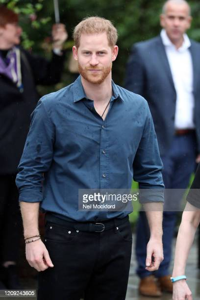 Prince Harry, Duke of Sussex visits Abbey Road Studios to meet Jon Bon Jovi and the Invictus Games Choir at Abbey Road Studios on February 28, 2020...