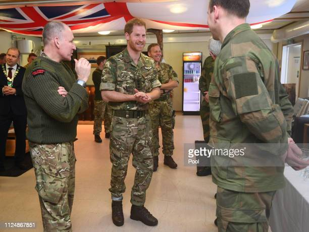 Prince Harry Duke of Sussex visits Exercise Clockwork for a celebration of the 50th anniversary of the Commando Helicopter Force and Joint Helicopter...