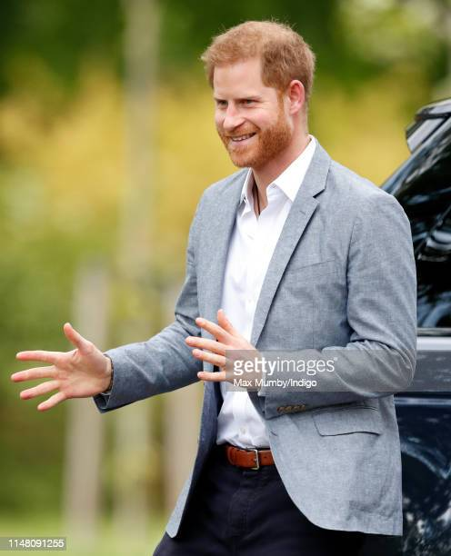 Prince Harry Duke of Sussex visits Sportcampus Zuiderpark to mark the official launch of the Invictus Games The Hague 2020 on May 9 2019 in The Hague...