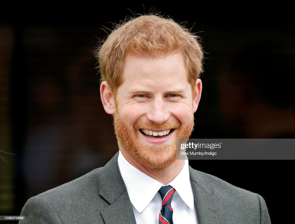 Prince Harry, Duke of Sussex visits The Royal Marines Commando Training Centre on September 13, 2018 in Lympstone, England. The Duke arrived at the centre in a Royal Navy Wildcat Maritime Attack Helicopter for his first visit in his role as Captain General Royal Marines. He met with new recruits undergoing training as well as the Invictus Games Racing Team.