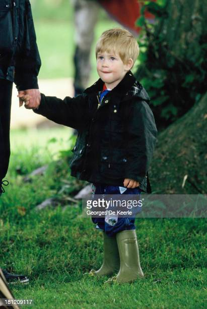 Prince Harry during a polo match at Cirencester Polo Club on June 6 1987 in Cirencester England
