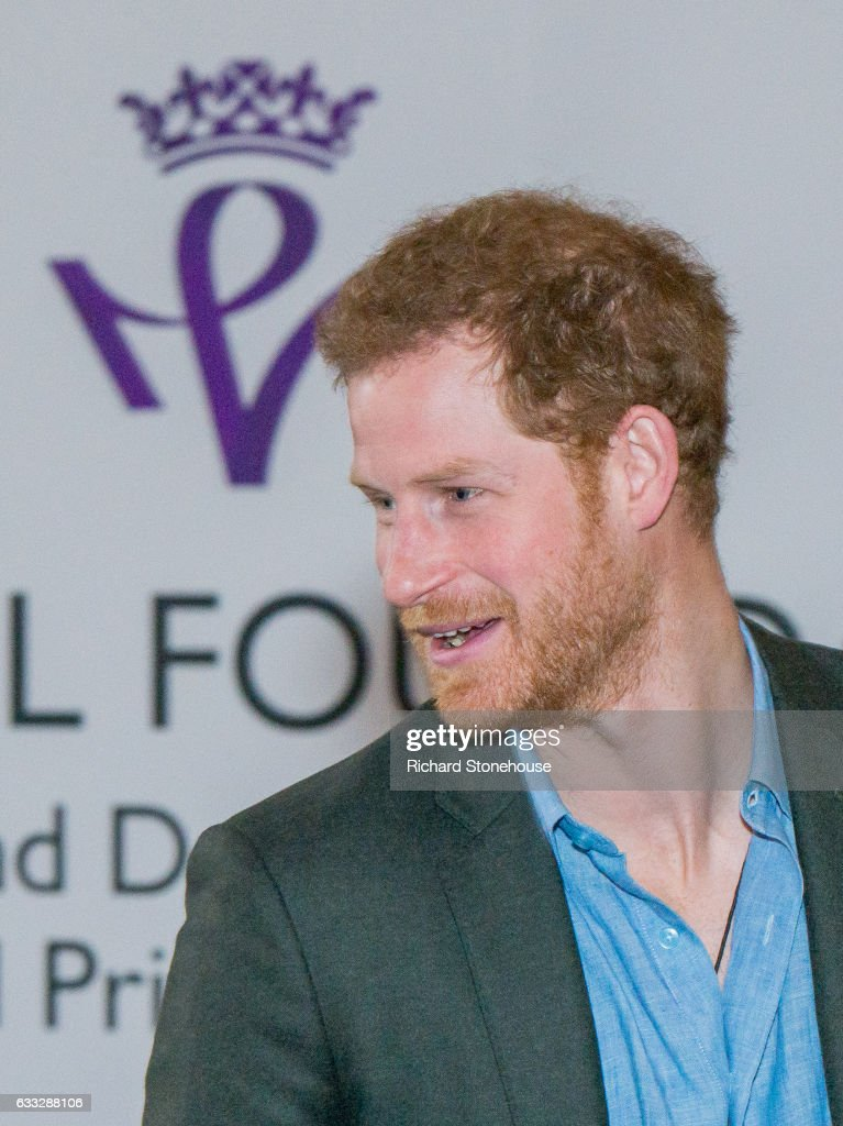 Prince Harry during an official visit to Full Effect & Coach Core on February 1, 2017 in Nottingham, England. Full Effect and Coach Core are projects supported by The Royal Foundation to improve opportunities for young people.