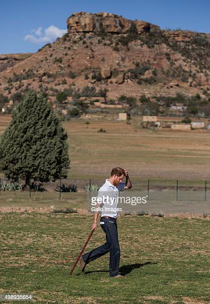 Prince Harry during the opening of Mamahato Childrens centre for orphans and families affected by HIV and AIDS on November 26, 2015 in Lesotho....