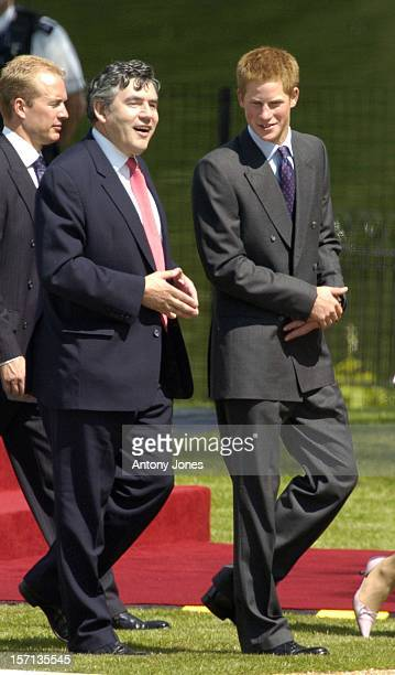 Prince Harry Gordon Brown Attend The Unveiling Of The Diana Princess Of Wales Memorial Fountain In London'S Hyde Park