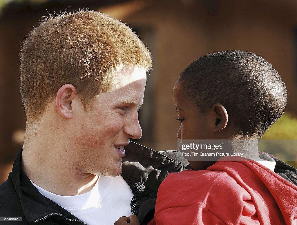 Prince Harry Returns to Lesotho : News Photo