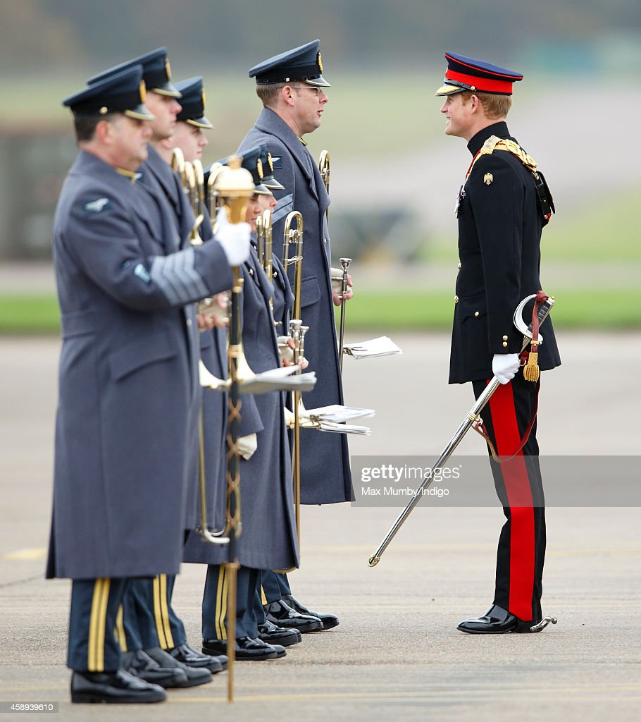Prince Harry, Honorary Air Commandant, Inspects RAF
