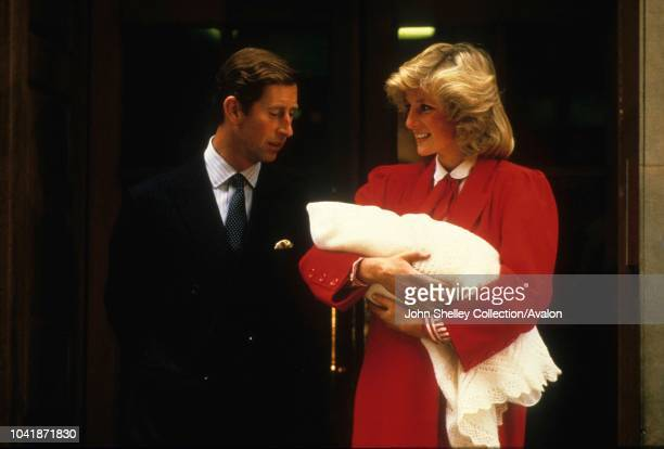 Prince Harry is born at the Lindo Wing of St Mary's Hospital London UK Charles Prince of Wales and Diana Princess of Wales leave the hospital with...