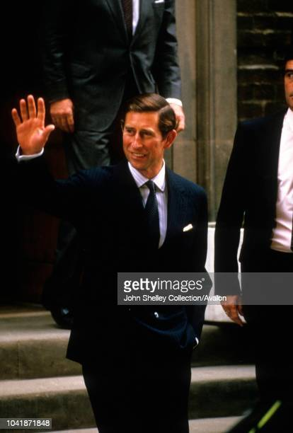 Prince Harry is born at the Lindo Wing of St Mary's Hospital, London, UK, Charles, Prince of Wales, arrives at the hospital, 16th September 1984.