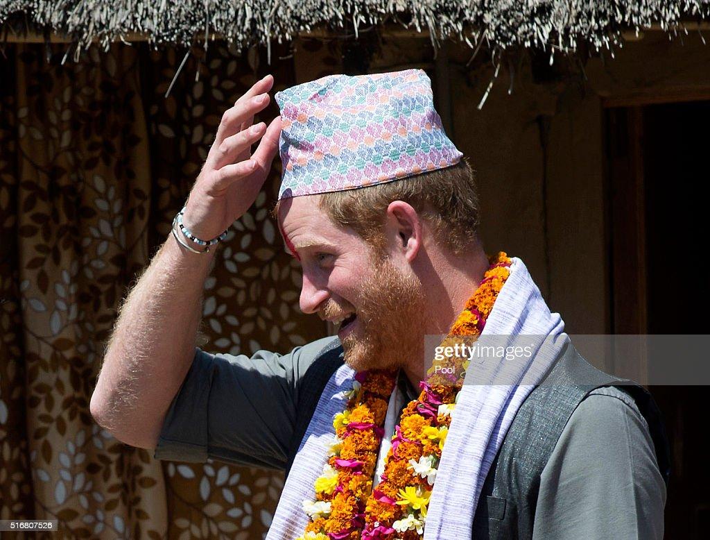 Prince Harry Visits Nepal - Day 3 : News Photo