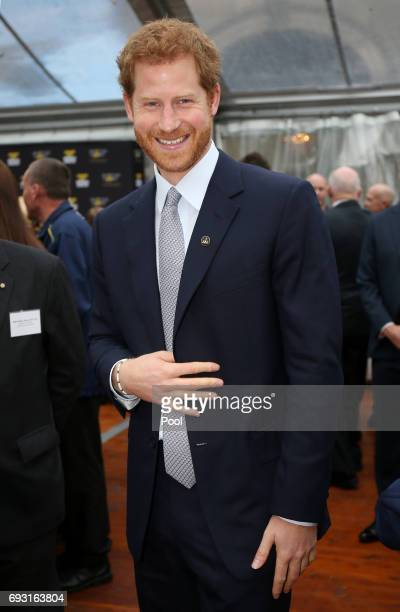 Prince Harry laughs during a function at Admiralty House on June 7 2017 in Sydney Australia Prince Harry is on a twoday visit to Sydney for the...