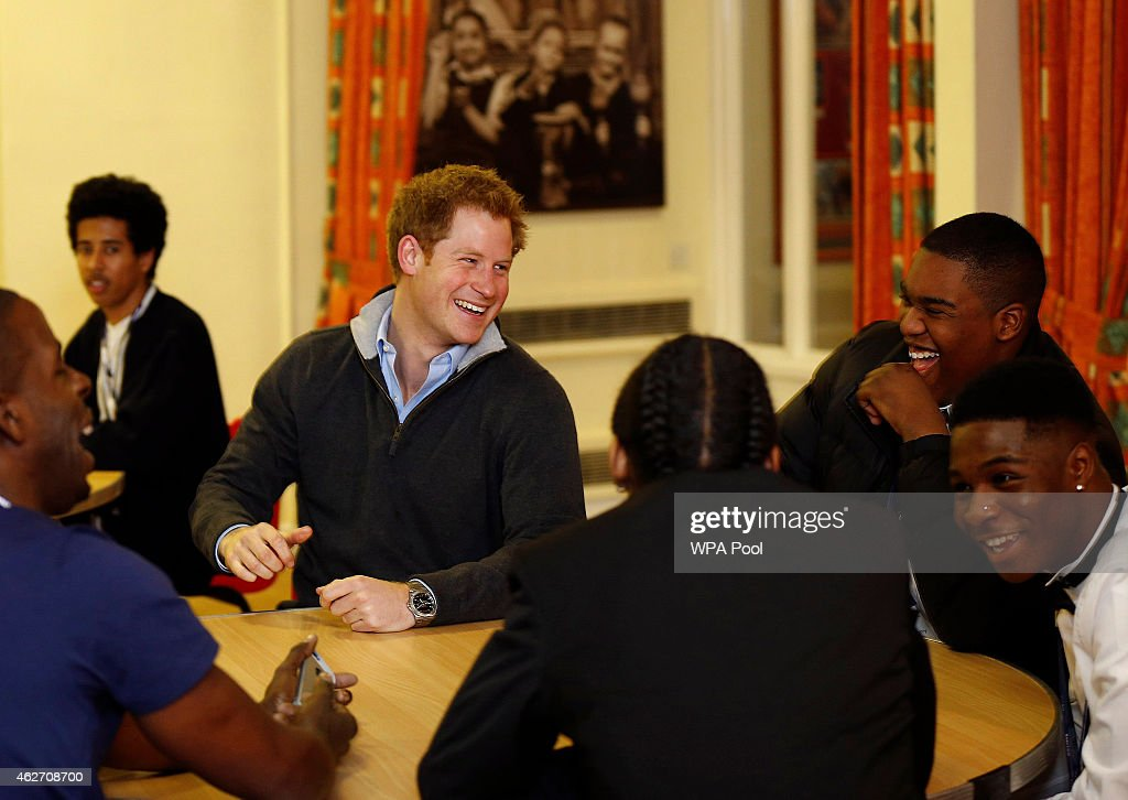 Prince Harry Visits The Full Effect Youth Project : News Photo