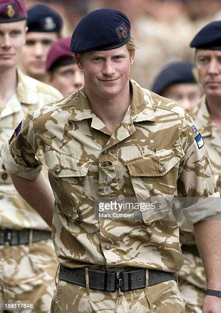 Prince Harry Marches Through Windsor To A Service Of Remembrance For Those Who Have Died In Afghanistan At The Army Garrison Church In Windsor
