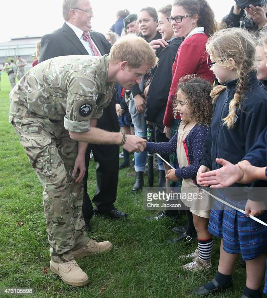 Prince Harry Meets Children Of Servicemen And Women During