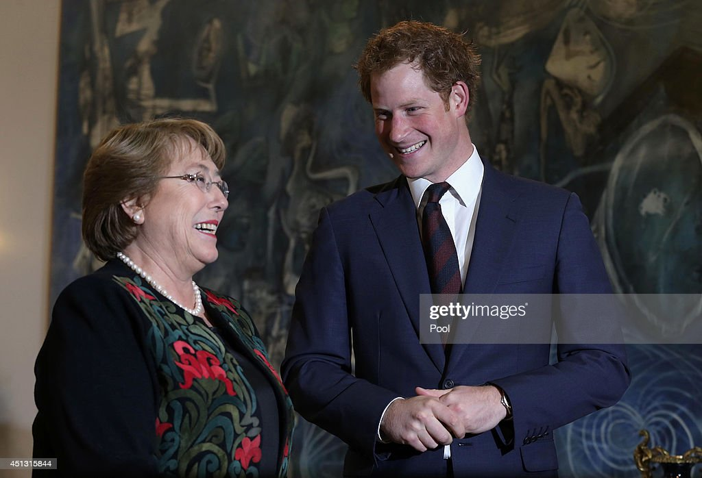 Prince Harry Visits Chile - Day 1 : News Photo