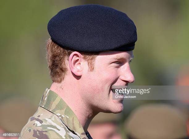 Prince Harry meets Estonian troops as he takes part in a NATO Military Training Exercise 'Steadfast Javelin One' on May 17 2014 in Otepaa Estonia...
