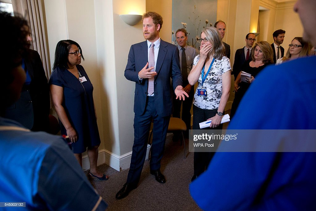 Prince Harry visits HIV Service at Kings College Hospital London : News Photo