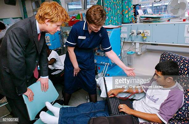 Prince Harry Meets Kidney Dialysis Patient Michael Anderton Right At Great Ormond Street Hospital London