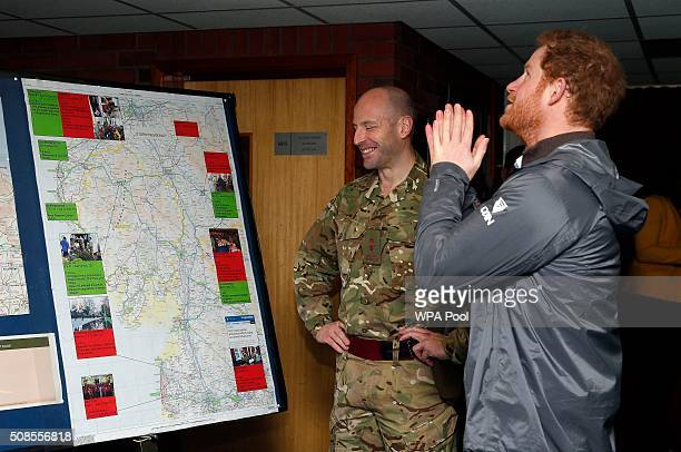 Prince Harry meets meets some of the soldiers from the 2nd Battalion The Duke of Lancaster's Regiment who were deployed to Lancashire Yorkshire and...