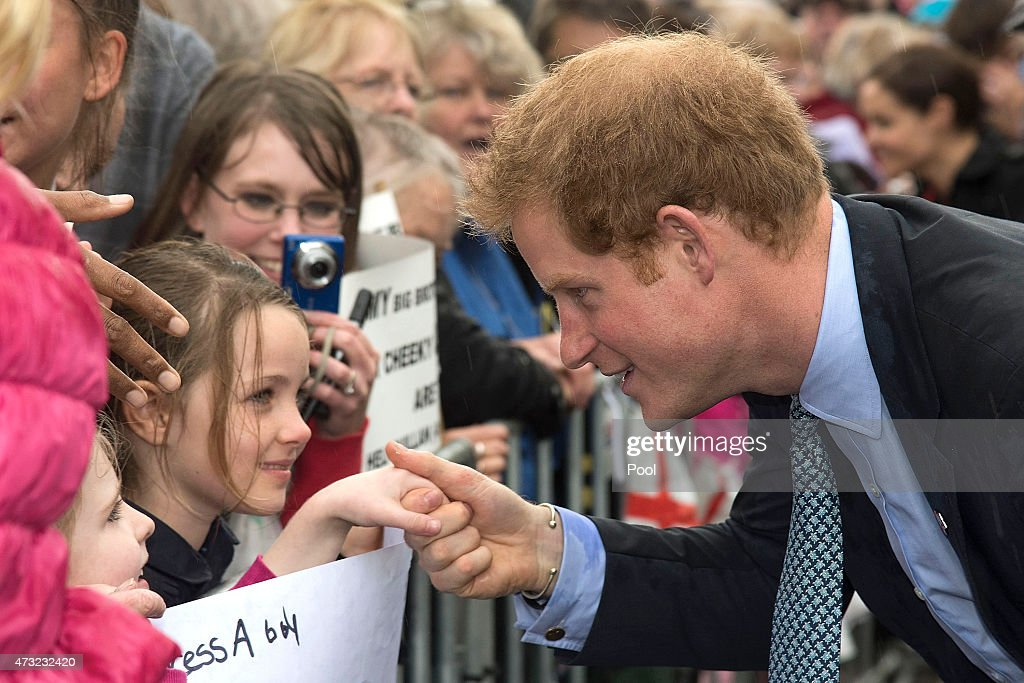 Prince Harry meets members of the public during a visit to the War Memorial Centre on May 14, 2015 in Wanganui, New Zealand. Prince Harry is in New Zealand from May 9 through to May 16 attending events in Wellington, Invercargill, Stewart Island, Christchurch, Linton, Whanganui and Auckland.