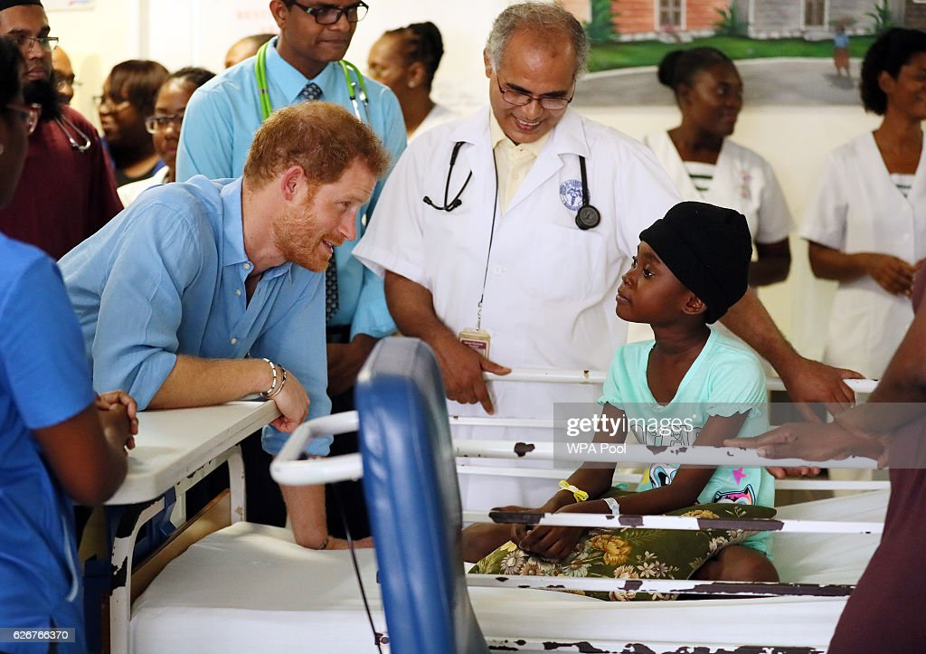 Prince Harry Visits The Caribbean - Day 10 : News Photo