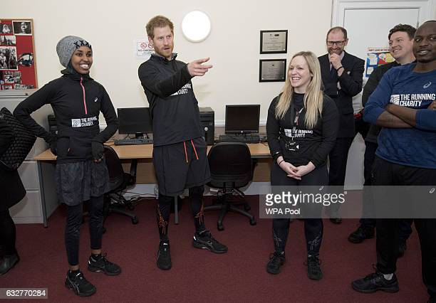 Prince Harry meets staff and users of The Running Charity which is the UK's first runningorientated programme for homeless and vulnerable young...