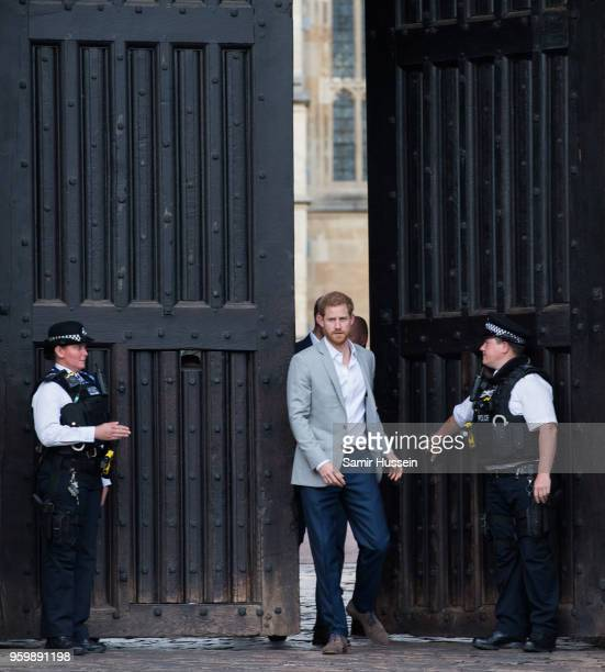 Prince Harry meets the public in Windsor on the eve of the wedding at Windsor Castle on May 18 2018 in Windsor England