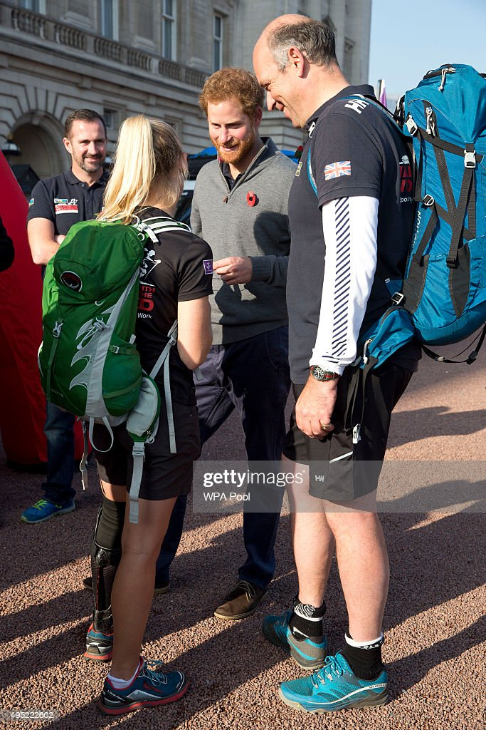 Prince Harry Meets Walking With The Wounded Team : News Photo