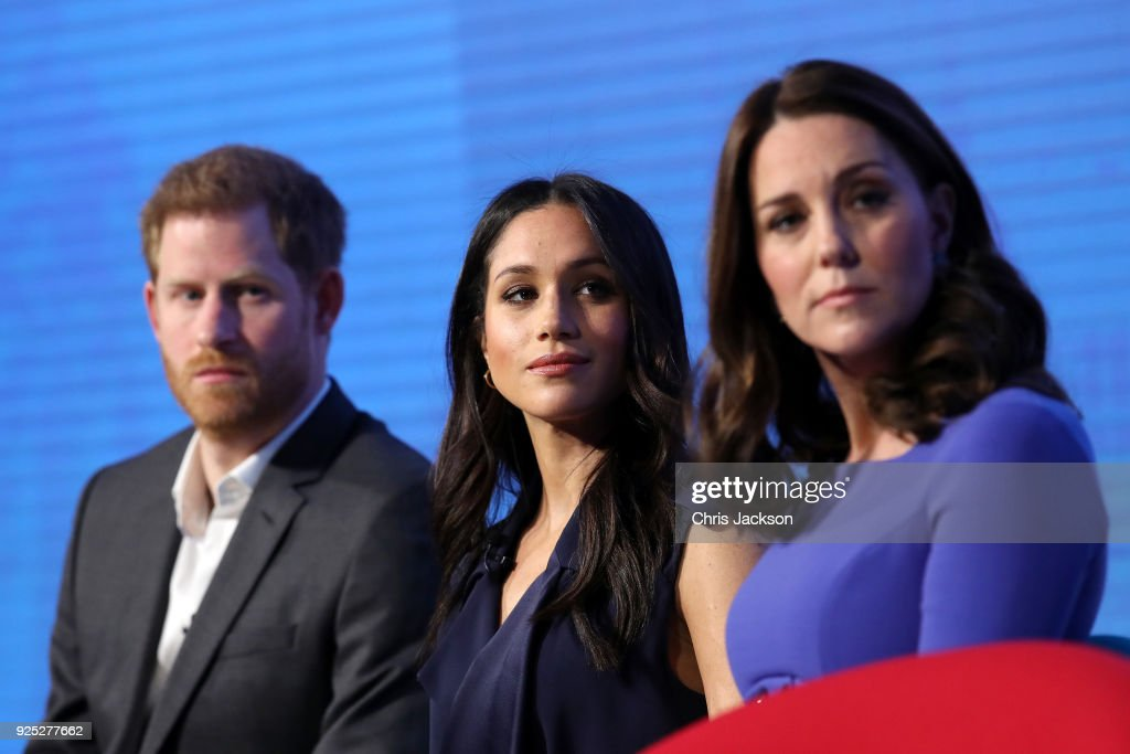 Prince Harry, Meghan Markle and Catherine, Duchess of Cambridge attend the first annual Royal Foundation Forum held at Aviva on February 28, 2018 in London, England. Under the theme 'Making a Difference Together', the event will showcase the programmes run or initiated by The Royal Foundation.