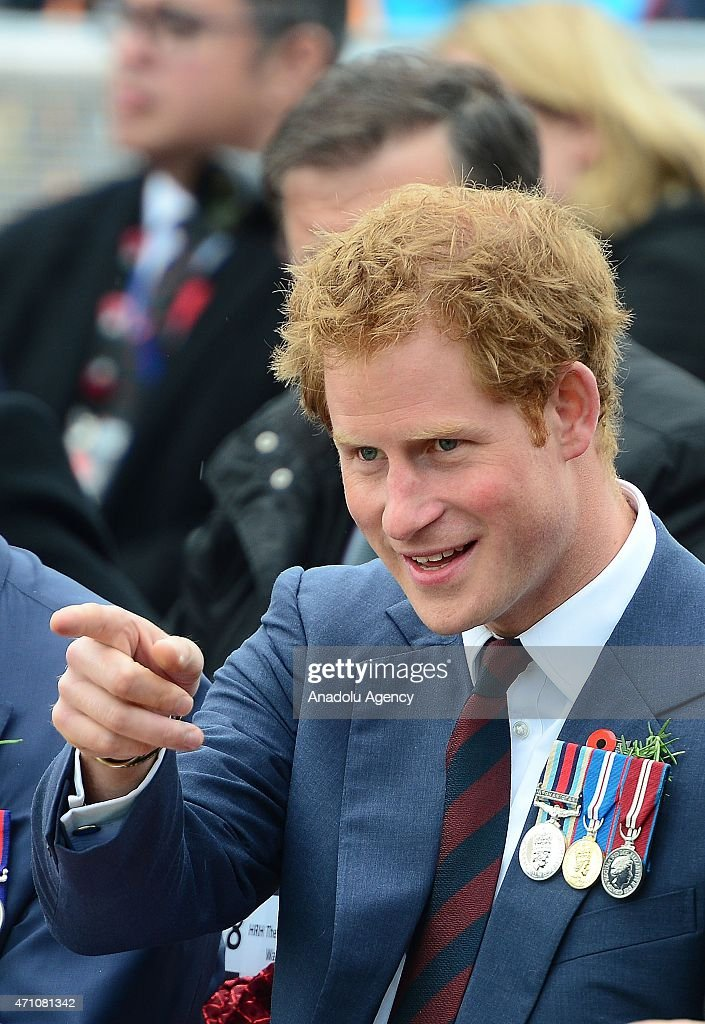 Prince Harry of Wales attends a memorial service at the New Zealand National Memorial on the occasion of the 100th anniversary of Canakkale Land Battles on Gallipoli Peninsula in Canakkale, Turkey on April 25, 2015.