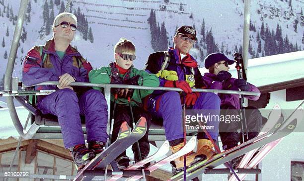 Prince Harry On A Ski Lift In Lech Austria