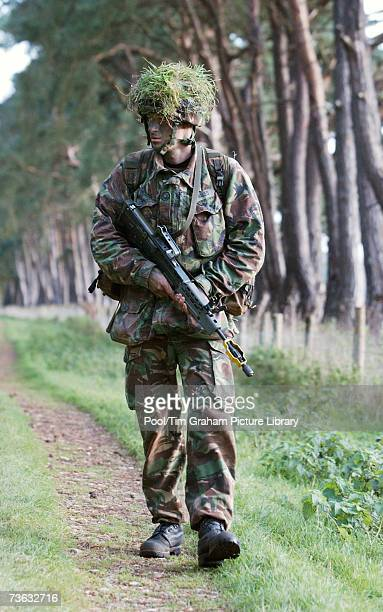 Prince Harry on military manoeuvres during his training at Sandhurst Military Academy issued on January 25 England Prince Harry is to join the Blues...