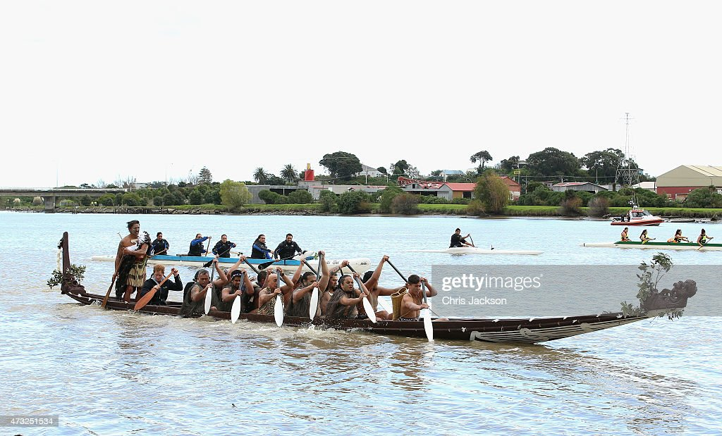 Prince Harry paddles as he takes a Waka journey (traditional Maori Warcraft) on the Whanganui River on May 14, 2015 in Wanganui, New Zealand. Prince Harry is in New Zealand from May 9 through to May 16 attending events in Wellington, Invercargill, Stewart Island, Christchurch, Linton, Whanganui and Auckland.