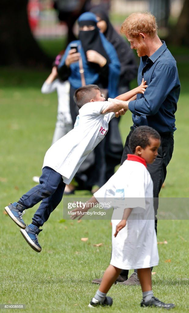 Prince Harry Visits StreetGames' Fit And Fed : News Photo