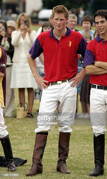 Prince Harry Plays Polo At The Beaufort Park Polo Club