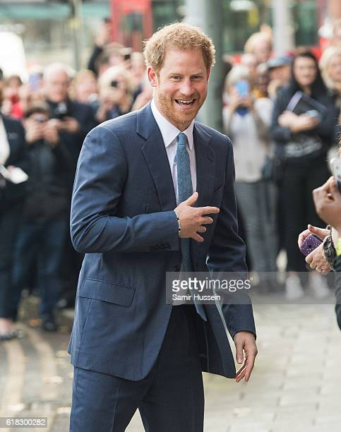 Prince Harry plays rugby with children as part of the Coach Core sporting apprenticeships at National Ice Centre on November 6 2016 in Nottingham...